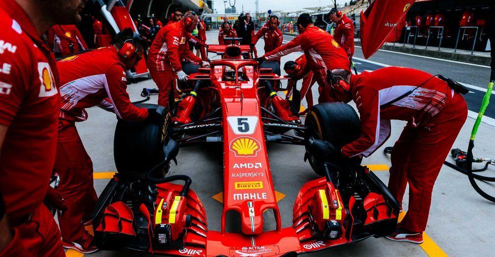 Ferrari's pit crew look healthy