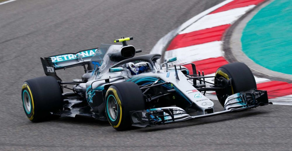 Valtteri Bottas in action