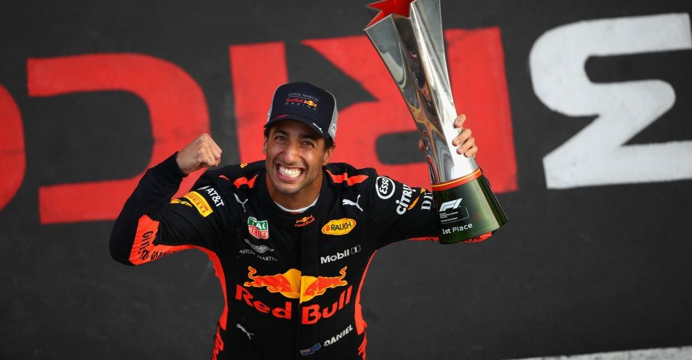 Riccardo wins the Chinese Grand Prix - Picture from Red Bull Content Pool