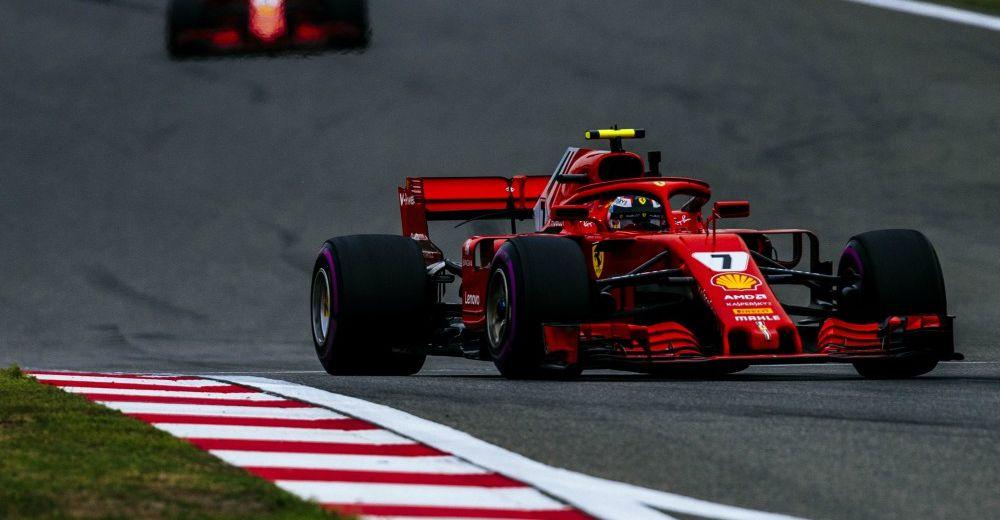 Raikkonen finishes ahead of Vettel after Vettel's crash - Picture from Ferrari Media