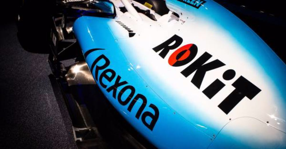 Close-up of the new sponsor!