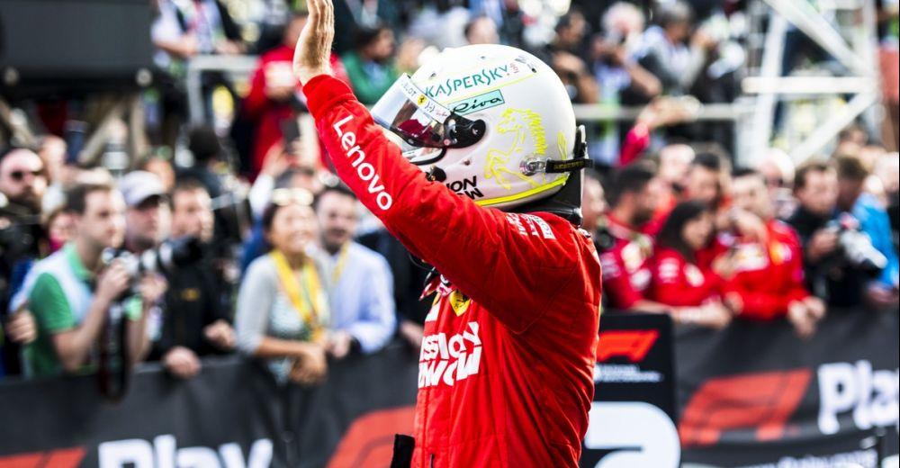 Vettel bedankt zijn fans na podiumplaats