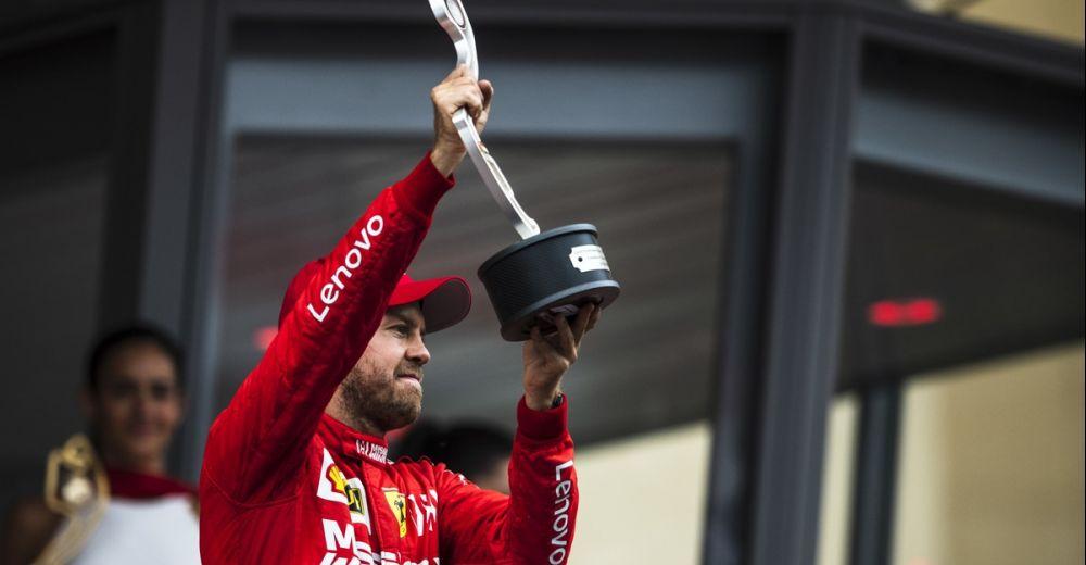Vettel is blij met zijn tweede plaats