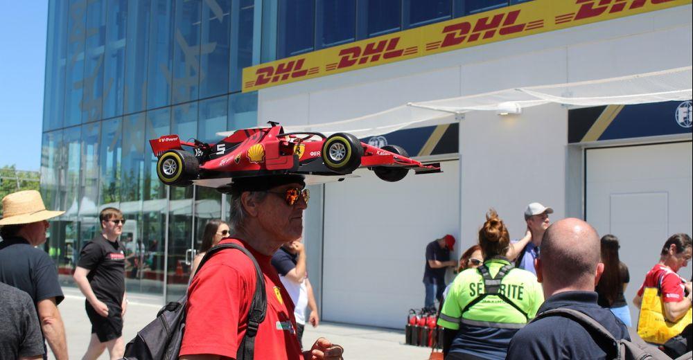 Ferrari fans zijn aanwezig!