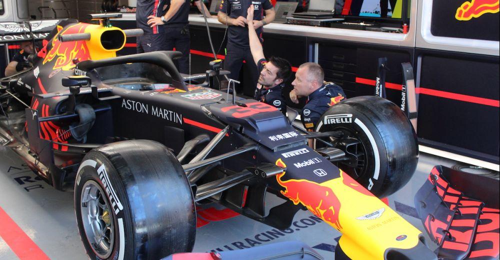 De RB15 is dit weekend voorzien van nieuwe aerodynamische updates