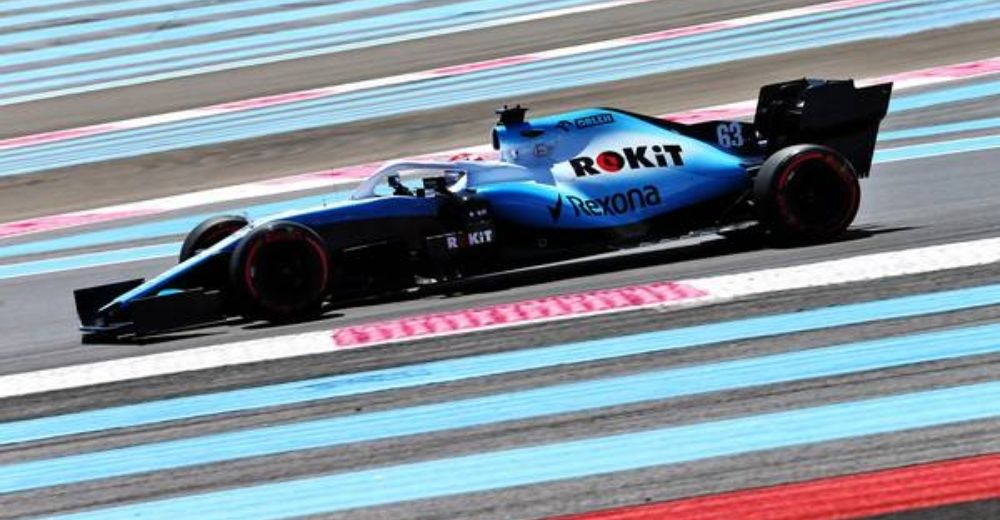 George Russell takes to Paul Ricard in an F1 car for the first time!