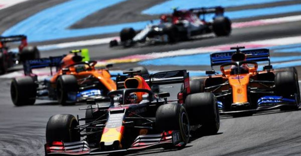 Verstappen faced a challenge from McLaren early on