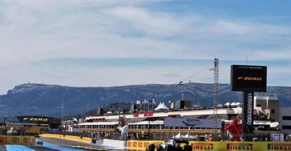 Blue skies at Paul Ricard