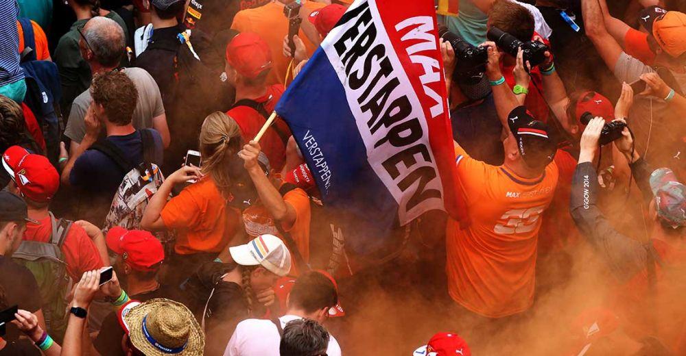 De Oranje Verstappen fans waren ruim vertegenwoordigd!