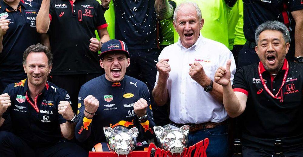 Blije gezichten bij Red Bull Racing