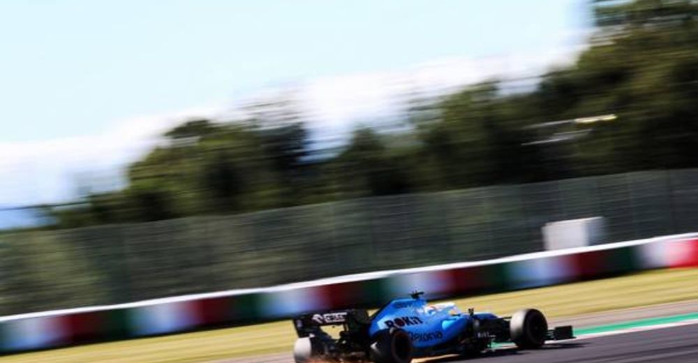 Sparks fly out of the Williams
