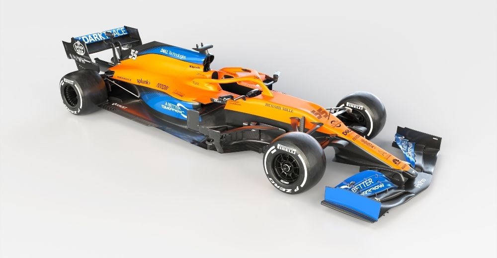Carlos Sainz's MCL35 (McLaren media centre)