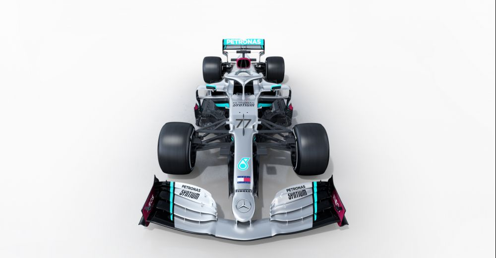 The new Mercedes from the front
