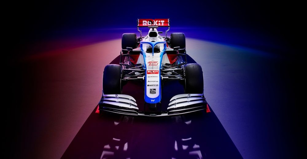 Blue, red and white are the main colour for their 2020 challenger  (Source: Rokit Williams Racing Twitter)