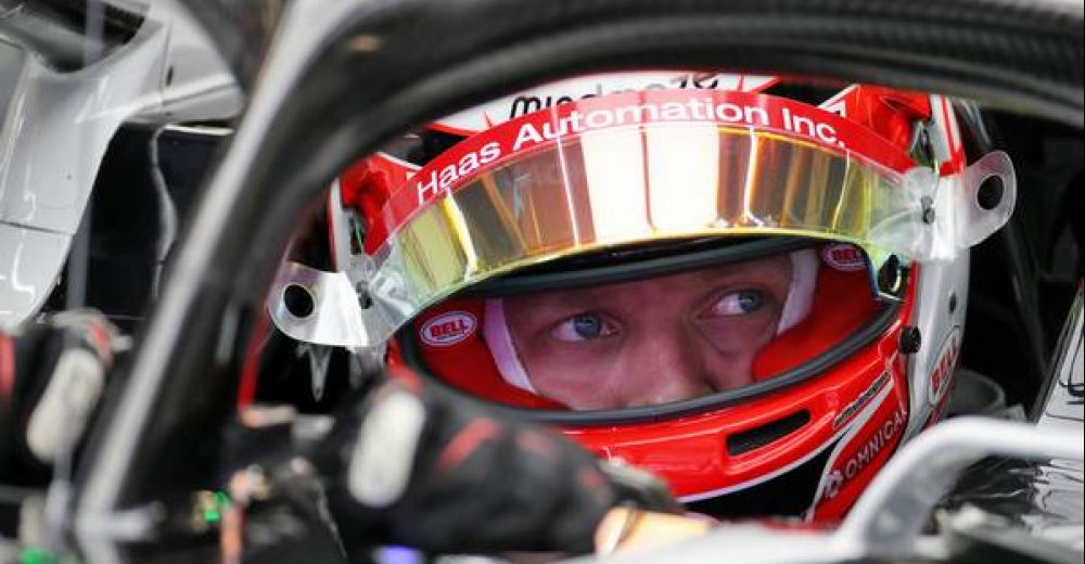 Kevin Magnussen waits to head onto the track, hoping for a better season than 2019