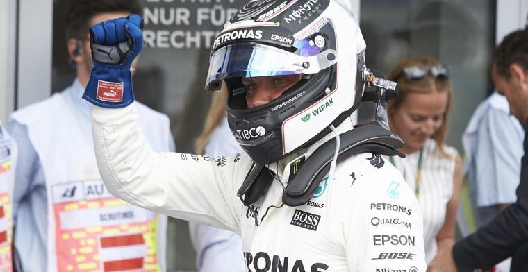 '90 procent zeker dat Bottas in 2018 bij Mercedes blijft'