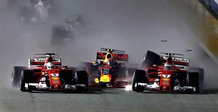 Liberty Media experimenteert met vier F1 wagens op de eerste startrij