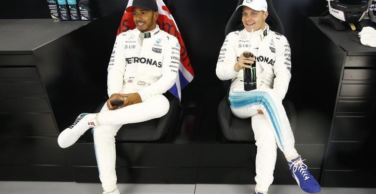 Bottas hoopt dat Lewis Hamilton bijtekent bij Mercedes