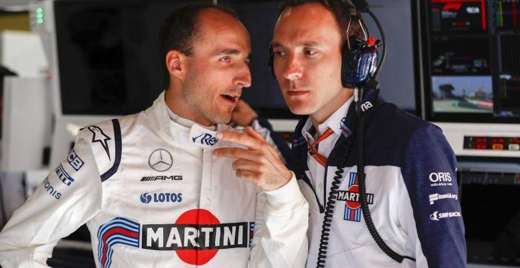 Kubica ook wel opgelucht dat hij dit seizoen niet zelf in de FW41 racet