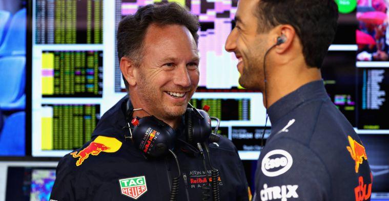 Horner: ''Het leek wel alsof we een meisje moesten overtuigen met Ricciardo''