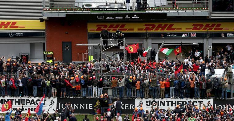 Duitsland plukt bezoekers weg bij Grand Prix van België