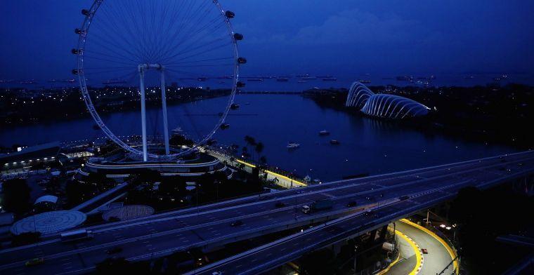 Gekortwiekt circuit voor GP Singapore