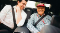 """Image: Wolff visits Lauda and says """"he'll be back in the pits!"""""""