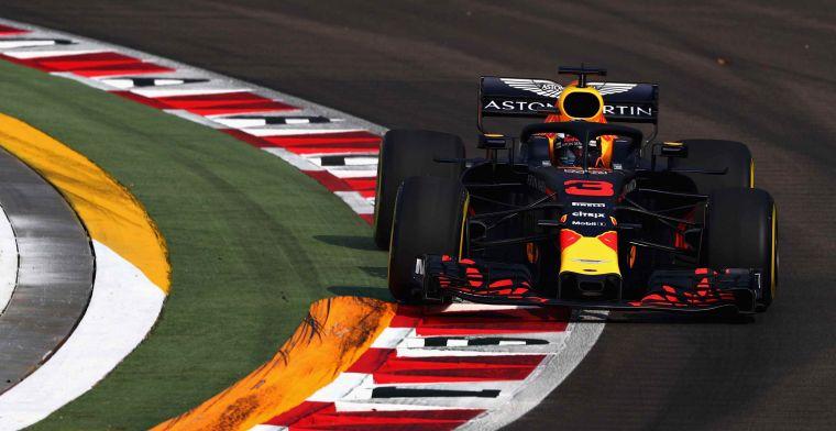Samenvatting VT1: Red Bull domineert in Singapore, met Max op P2