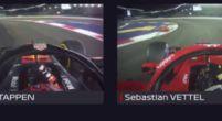 Afbeelding: Verstappen glipt langs Vettel in Singapore
