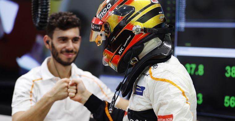 Alonso had een vliegtuigongeluk, Vandoorne rijdt te hard