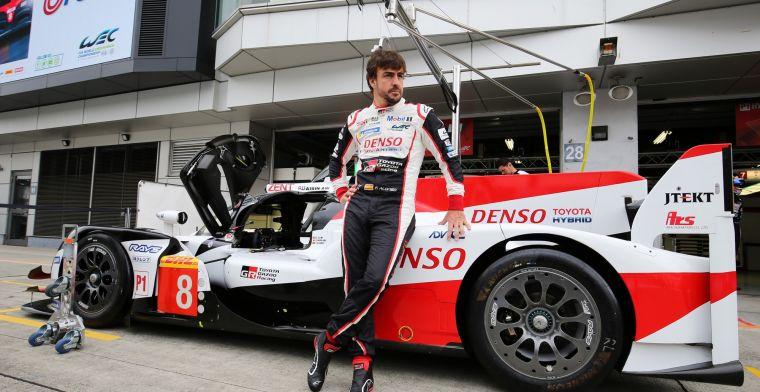 Fernando Alonso staat opnieuw bovenaan met Toyota