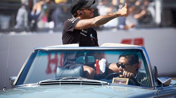Lewis Hamilton: ''Wauw, was ik dan de oudste coureurs geweest?!''