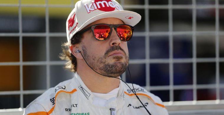 Alonso verklapt welke vijf coureurs hij hoog heeft zitten