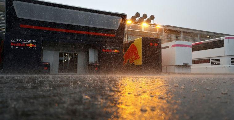Veel regen vlak voor eerste trainingen Austin