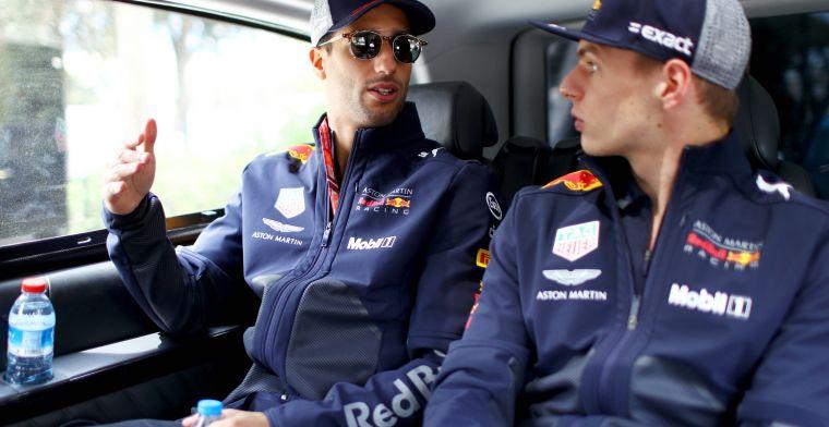 """Daniel Ricciardo hield het niet bij één muur: """"Ook in de tussenwand zat een gat"""""""