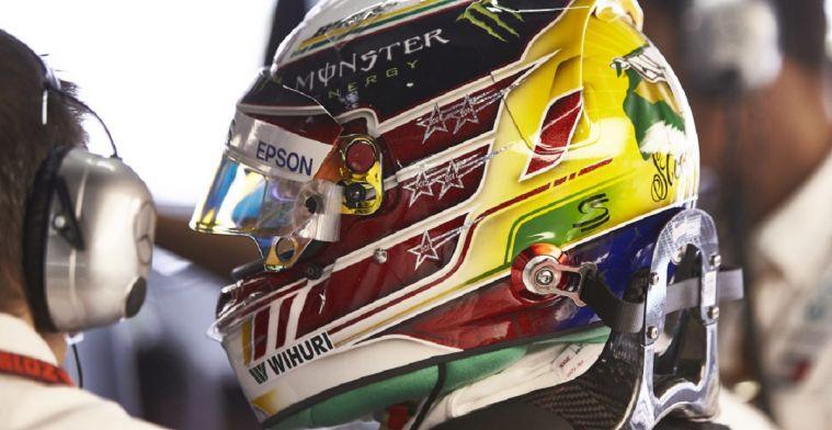 Lewis Hamilton rijdt in Brazilië met speciale 'Senna' helm