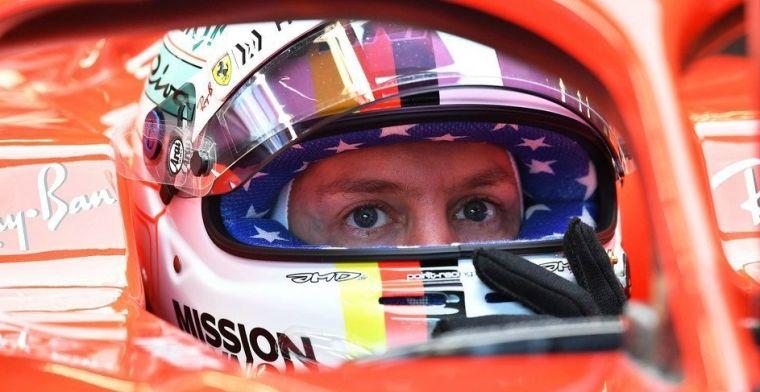 Vettel: Er zit iets los tussen mijn benen, maar het is niet wat je denkt