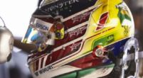 Afbeelding: Lewis Hamilton rijdt in Brazilië met speciale 'Senna' helm