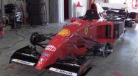 Afbeelding: V12 van Ferrari uit 1995 jankt en tiert tijdens demonstratie