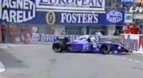 Afbeelding: Kortstondig debuut... Schiattarella sukkelt in de straten van Monaco