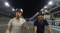 Afbeelding: Max Verstappen en Daniel Ricciardo maken fietstocht over Yas Marina
