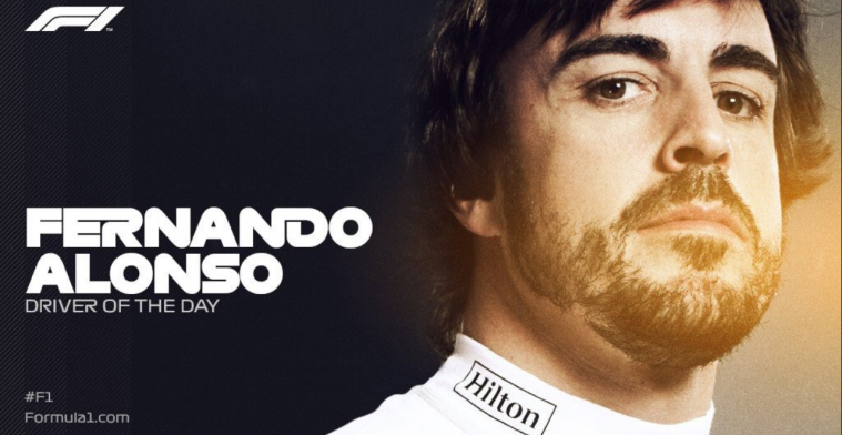 Alonso voted Driver of the Day in final race!