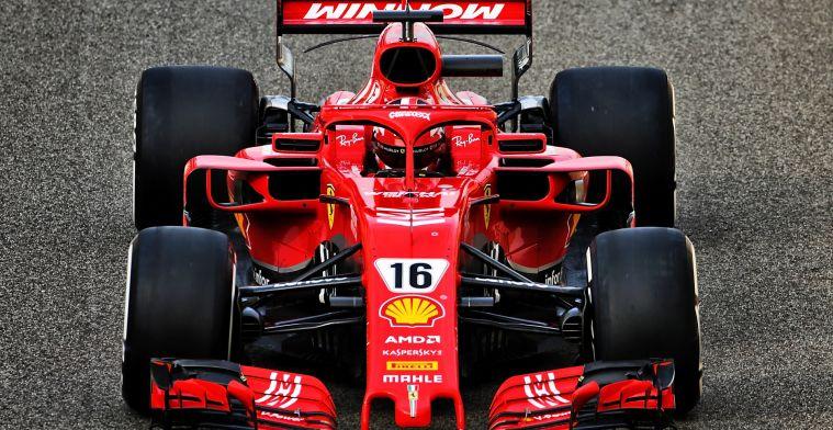 Leclerc noteert tweede ochtend bandentest snelste tijd in Ferrari