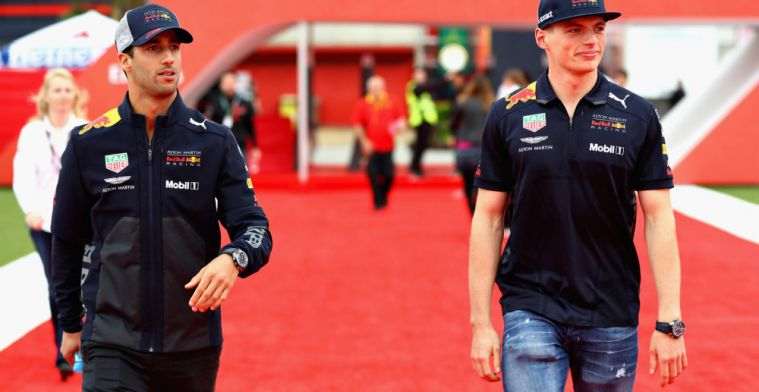 Daniel Ricciardo describes relationship with Max Verstappen at Red Bull