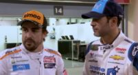 Afbeelding: Sky Sports-beelden van 'car swap' Alonso en Johnson