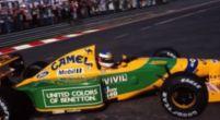 Afbeelding: De racekleuren van het flamboyante Benetton F1-team