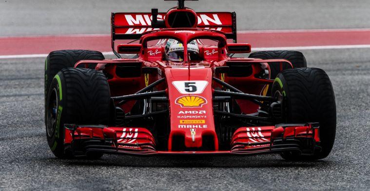 Voormalig teambaas: Succes van Ferrari hangt af van Sebastian Vettel