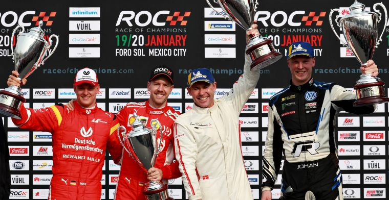 Vettel en Schumacher verliezen in de finale van de Race of Champions