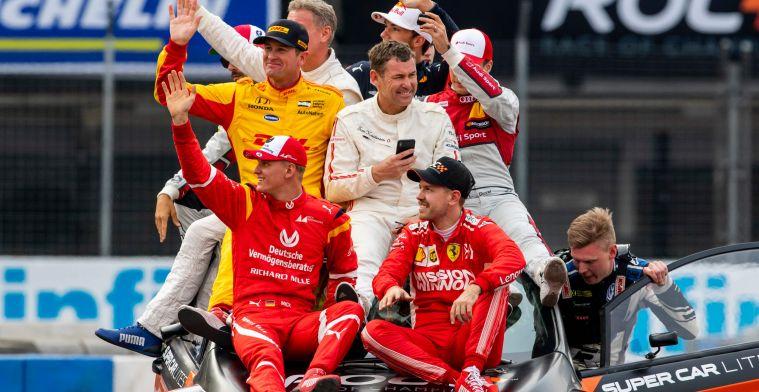 Sebastian Vettel en Schumacher een garantie voor succes in de Race of Champions