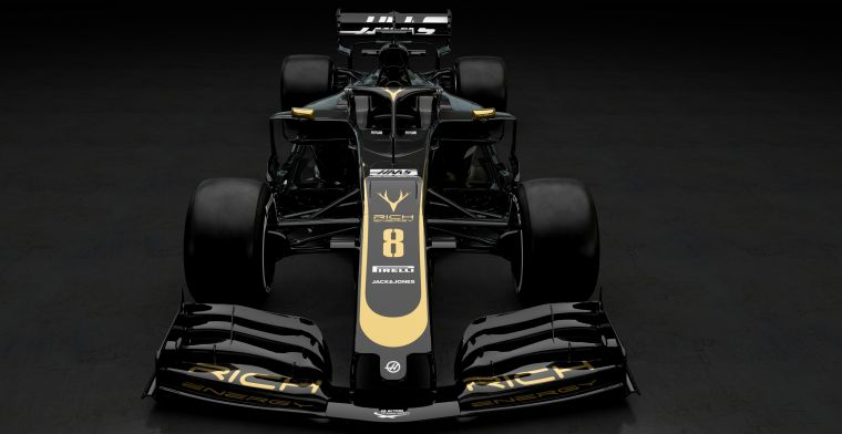 Haas changes F1 vehicle  from grey to black-and-gold for 2019